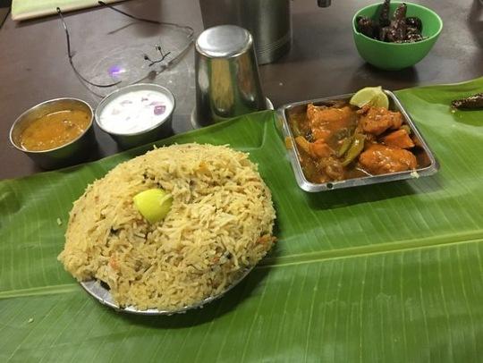 Mysore Biryani of the RRR Restaurant